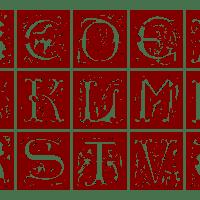 Ornamental Alphabet 16th Century