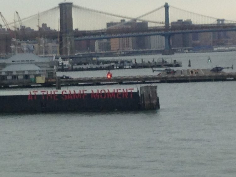 """""""at the same moment"""" staten island ferry"""