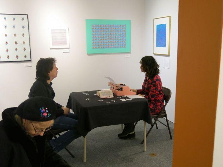 "Poetry Portrait: ""Poem for Ray"" - Typewriter Poetry Staten Island Museum Betty Bressi Billimarie Art"