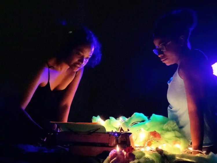 """Literary Creatures"" by Billimarie Lubiano Robinson as A. Ti Nyalien with Luz - Philly Fringe Fest, 2018"