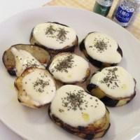 米茄子とモッツァレラチーズのソテー