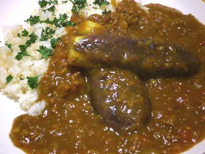 茄子カレー(盛りつけ例2)