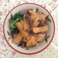 きょうの料理で土井善晴先生が作ったたけのこ肉めしを作ってみました