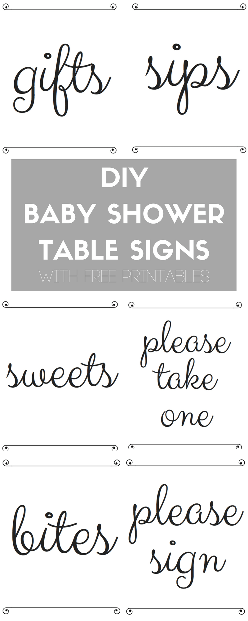 Diy Baby Shower Table Signs With Free Printables Typical Katie Diy Baby  Showertable Signs1 Salsuba Choice