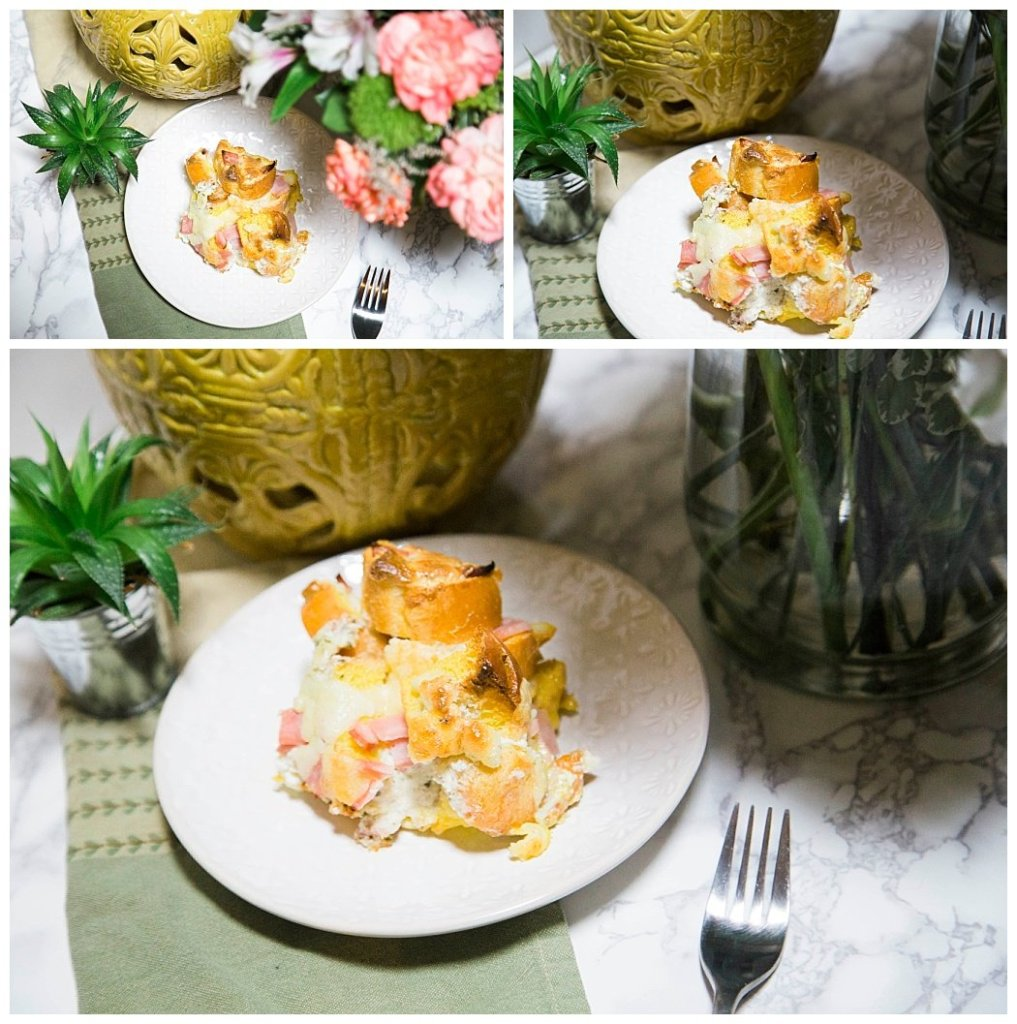 breakfast strata egg casserole