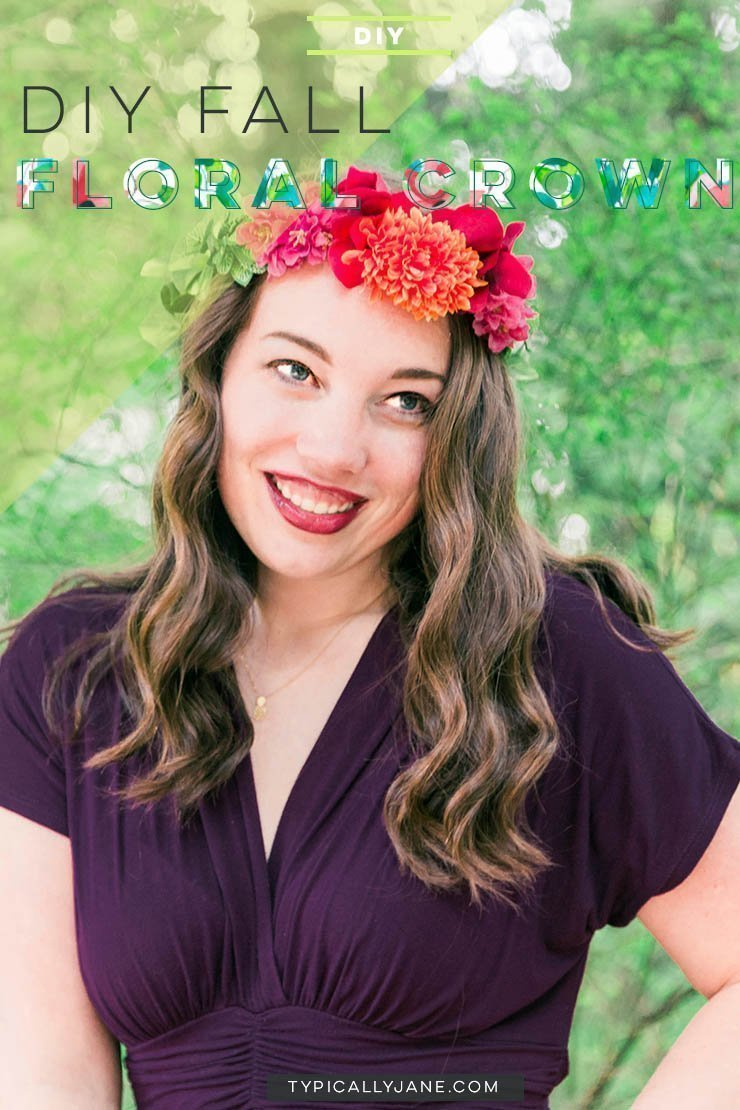 Make your own DIY fall floral crown