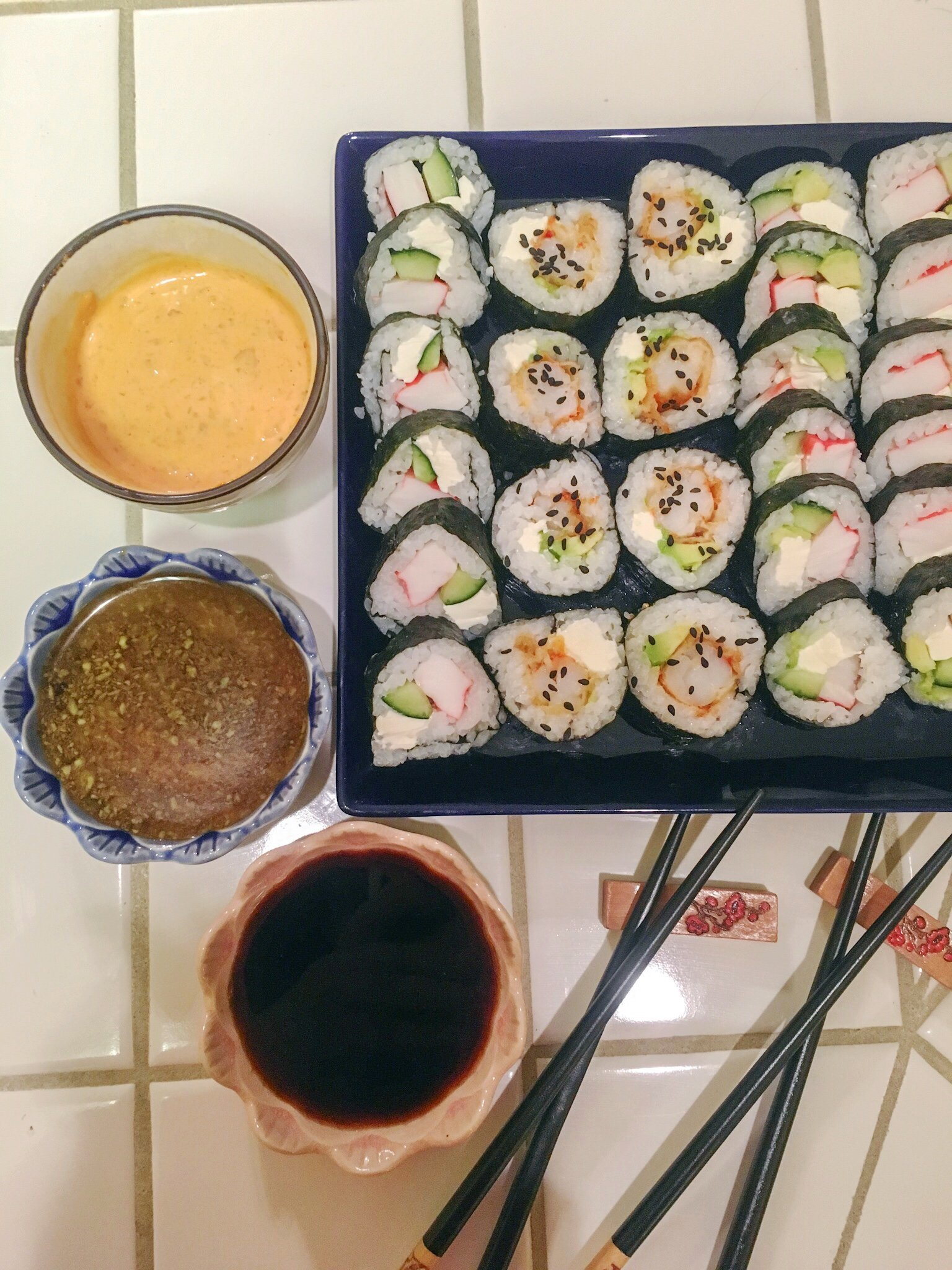 Homemade Sushi - Winter Date Night Ideas
