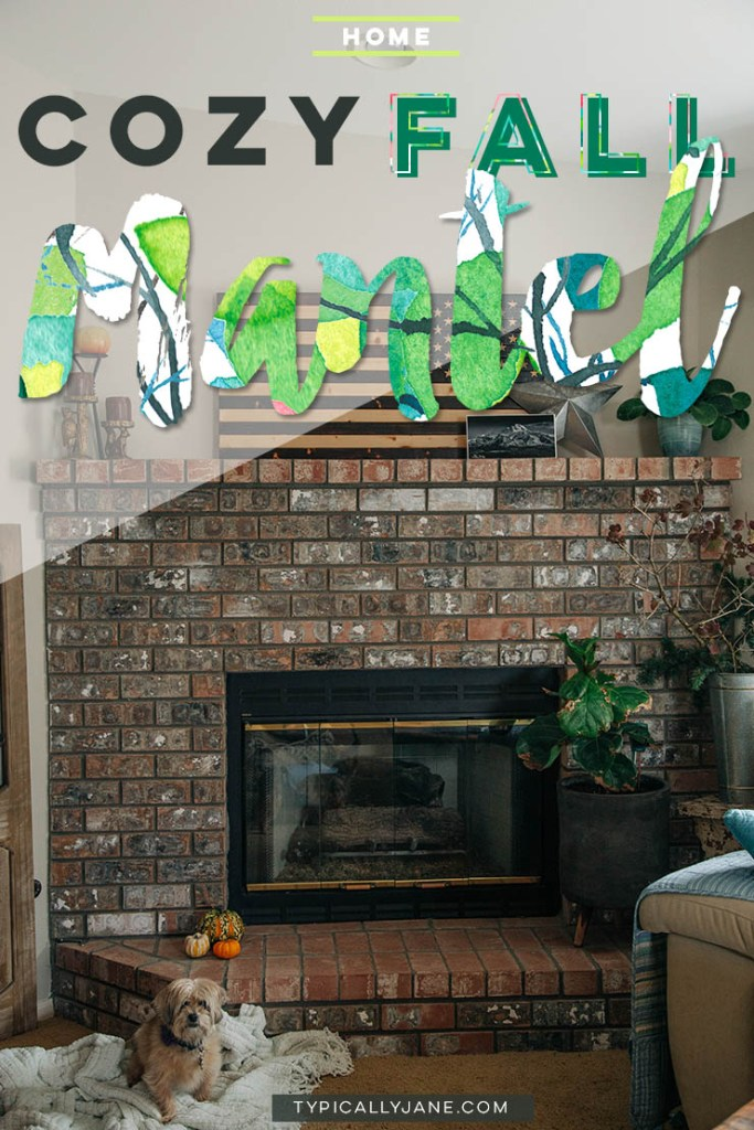 fall mantel ideas, fall mantels, fall mantel decorations, simple fall mantel, easy fall mantel