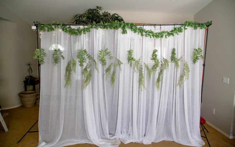 DIY Photo Backdrop | For a Wedding, Engagement Party, or Party