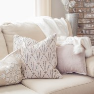 Neutral Christmas Decor | Winter Fireplace Mantel