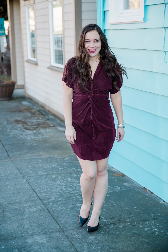spring date night outfit, red dress