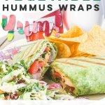 Turkey Pesto Vegetable Hummus Wraps
