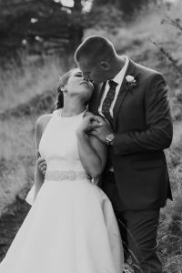 wedding shot list, almost kissing bride and groom, mountain outdoor wedding photography