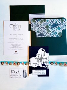 sophisticated beach wedding invitation suite, diy invitations, sea. life wedding invitation, envelope insert, seashell stamps, map invitation