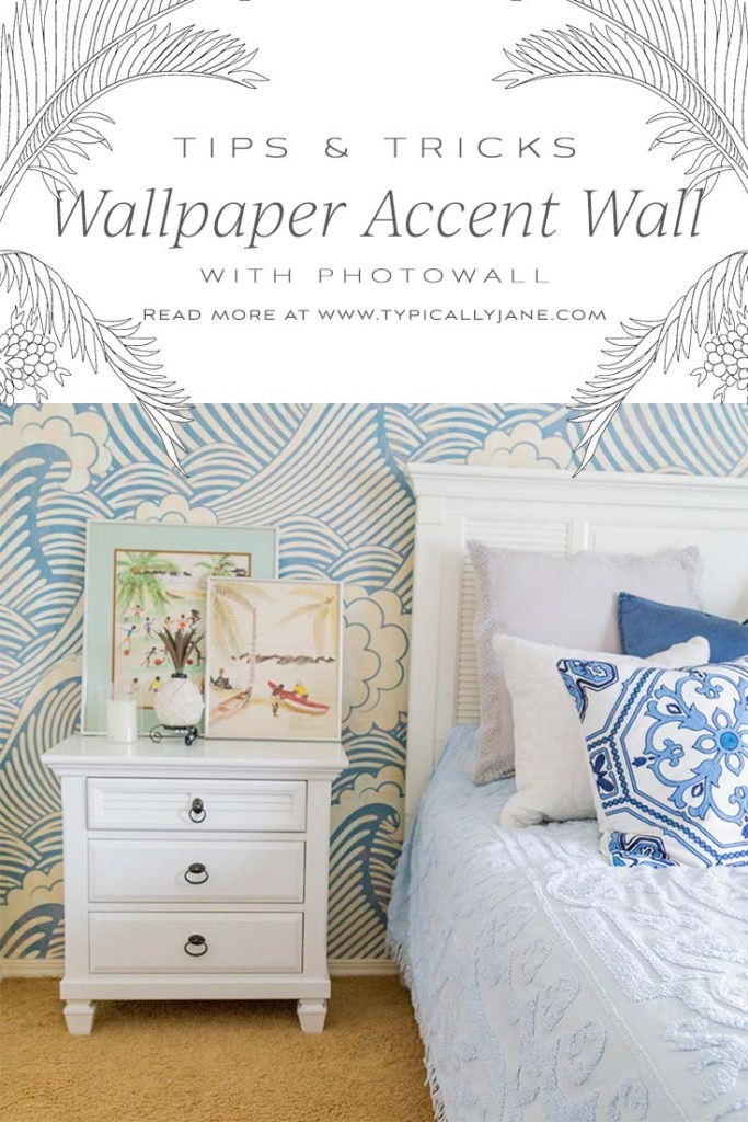 wallpaper accent wall bedroom, photowall how to install wallpaper tutorial accent wall waves wallpaper in guest bedroom