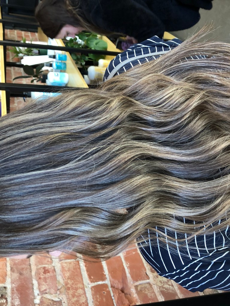 new spring hair brunette ash blonde balayage