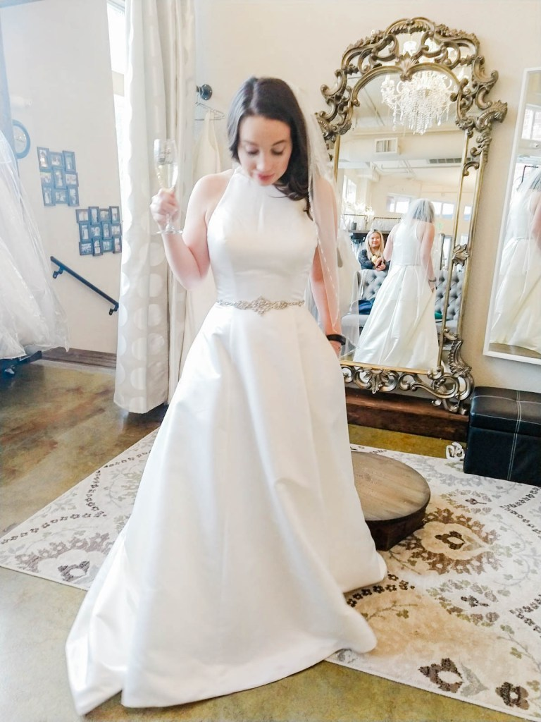 a line classic elegant wedding dress, I Do Bridal Seattle Review
