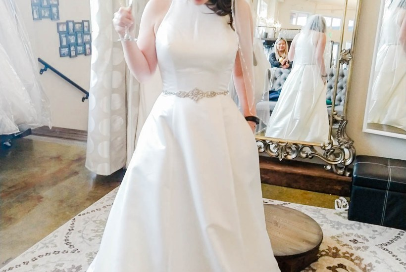 a line classic elegant wedding dress, I Do Bridal Seattle Review