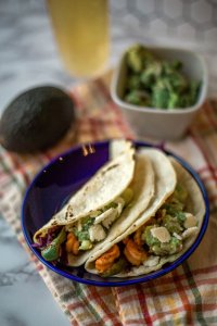 Sweet and Spicy Shrimp Tacos, easy healthy and delicious dinner idea