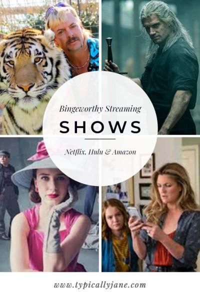 bingeworthy streaming shows to watch while self quarantining coronavirus covid-19 Netflix amazon and Hulu