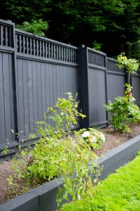 black wood cedar fence