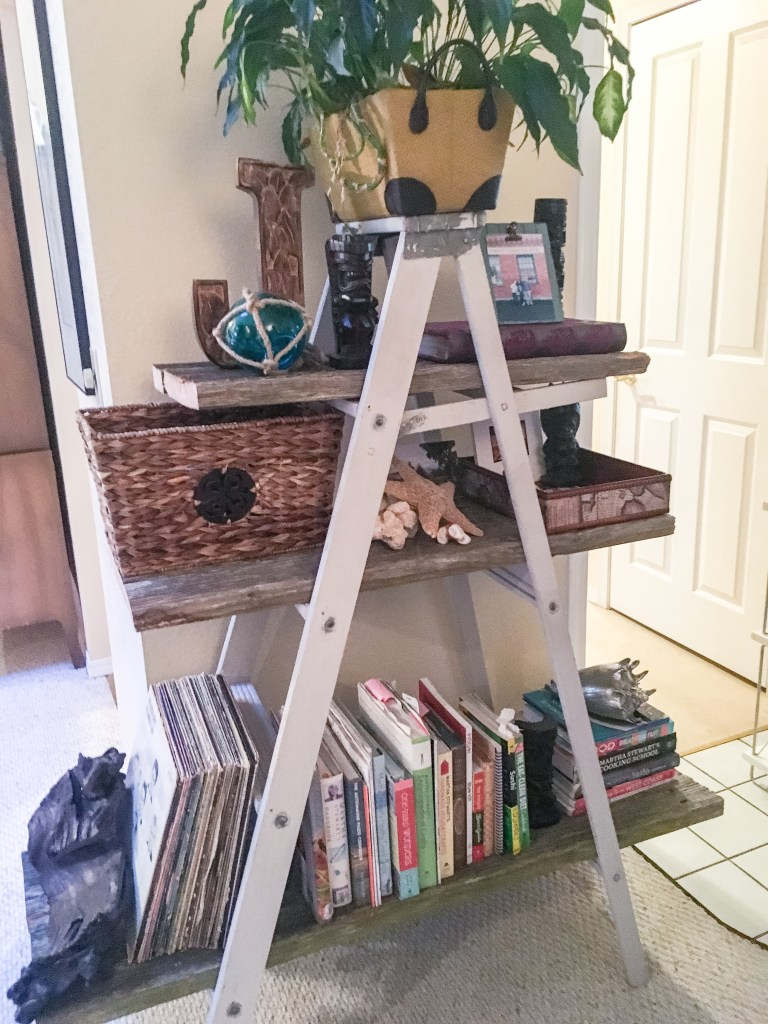ladder made into a bookshelf