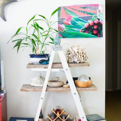 diy a-frame ladder bookshelf