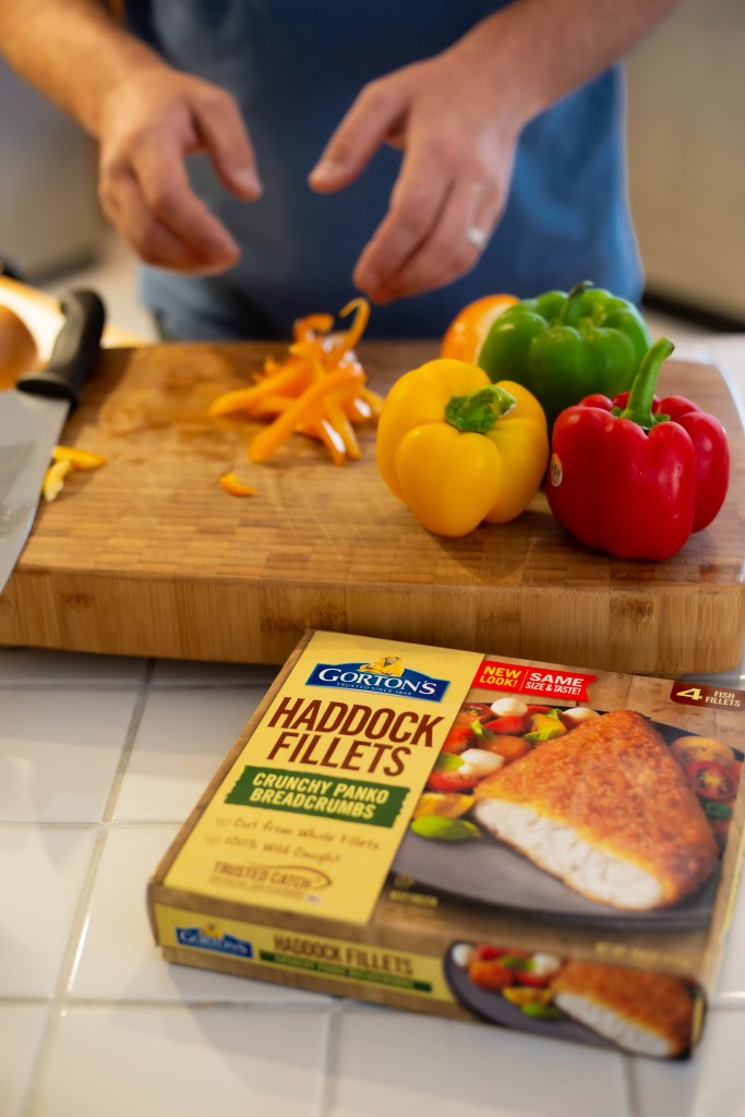 cooking with gorton's haddock fillets crunchy Panko breadcrumbs