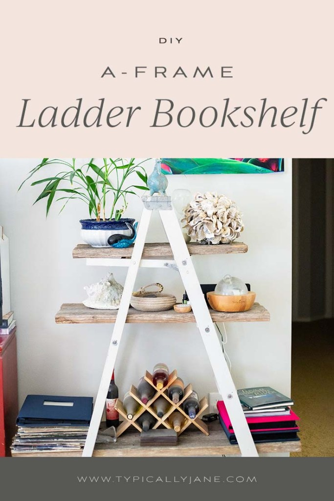 diy a-frame ladder bookshelf