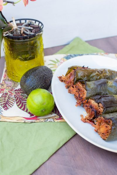 Sweet & Spicy Slow Cooker Pork Stuffed Poblano Peppers