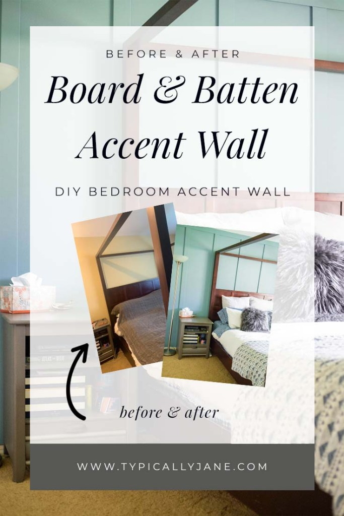 before and after diy board and batten wall