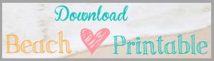 Download Beach {Love} Printable