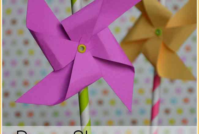 Paper Pinwheels – Paper Straws