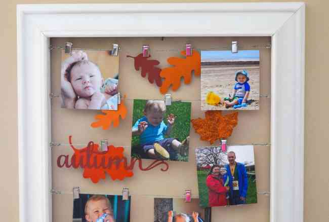 Fall Photo Display using the Silhouette Advent Calendar