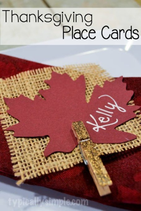 Use these easy to make place cards to dress up the table for Thanksgiving