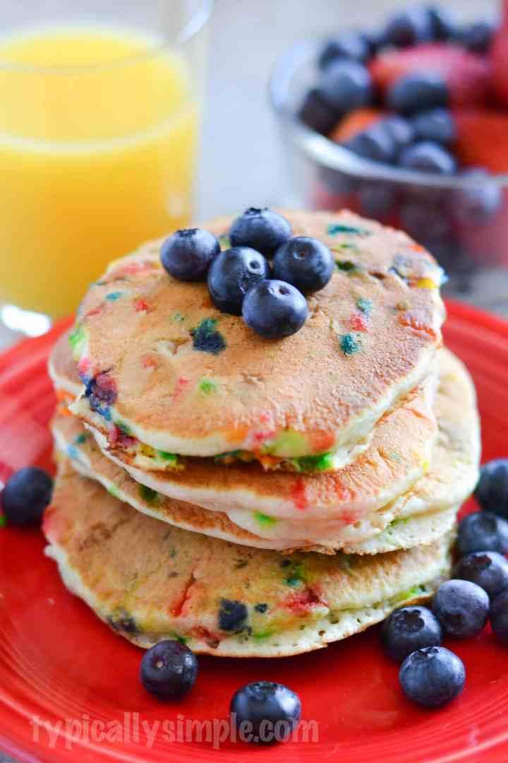 Blueberry and Sprinkles Pancake Recipe