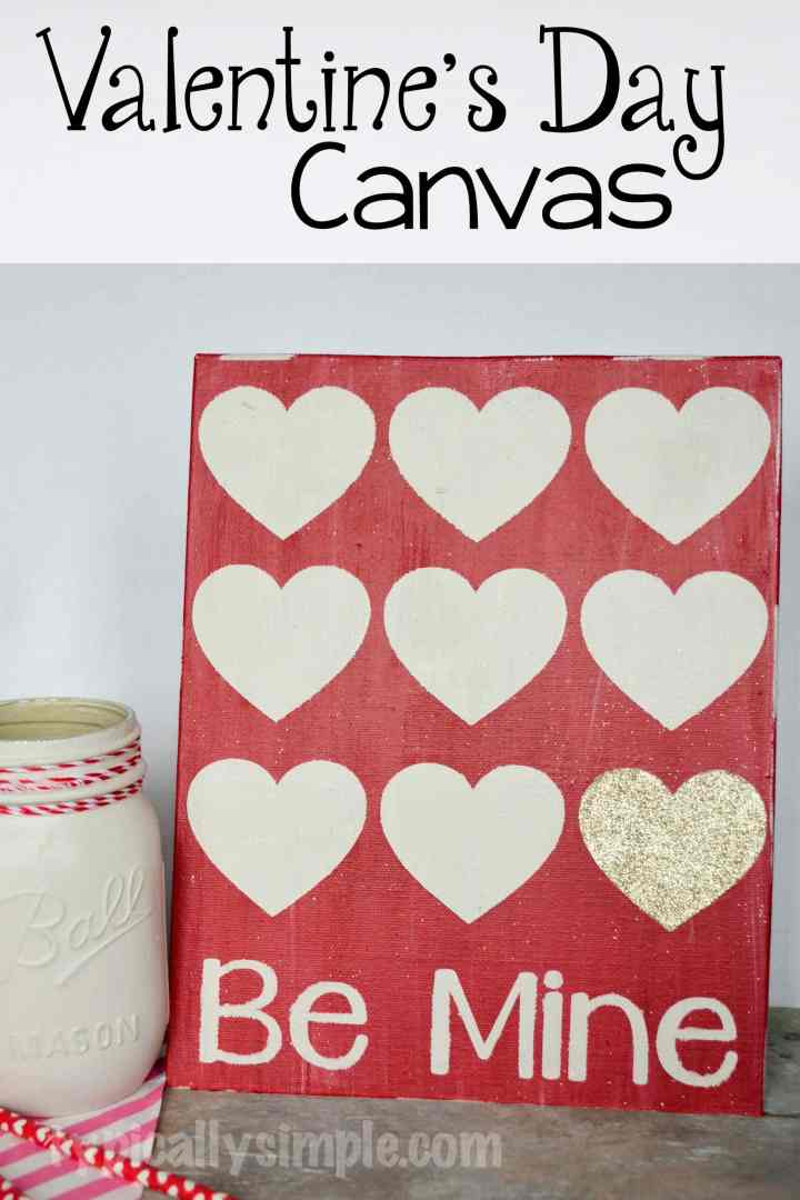 Create this Valentine's Day canvas using a stencil and chalk paint. A great project to make with your Silhouette Cameo!