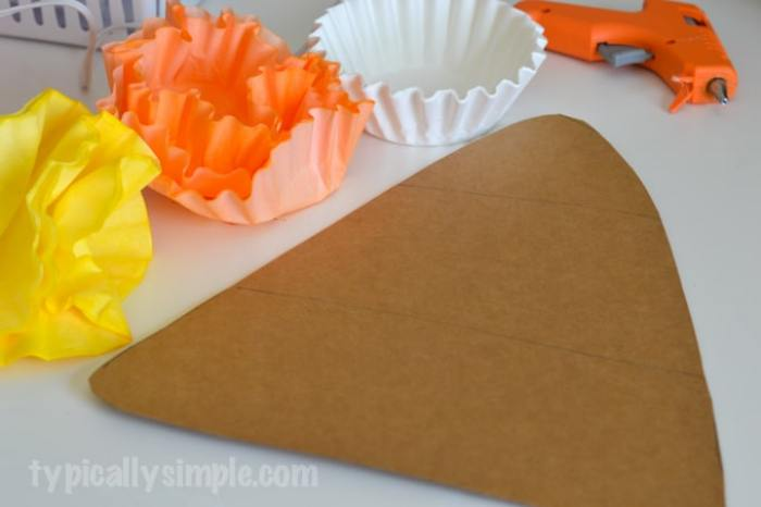 Coffee Filter Candy Corn-4