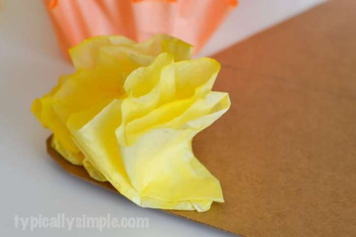 Coffee Filter Candy Corn-6