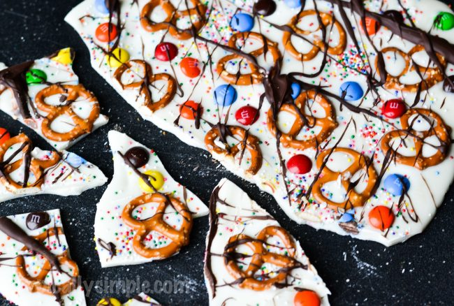 Sweet & Salty Chocolate Bark Recipe