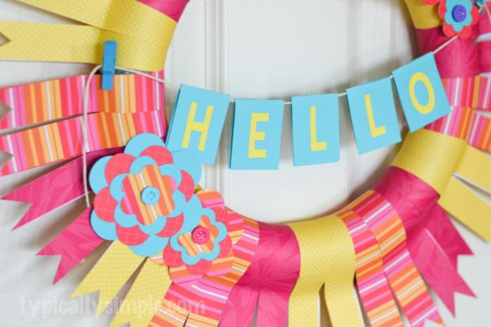 Scrapbook Paper Wreath-12
