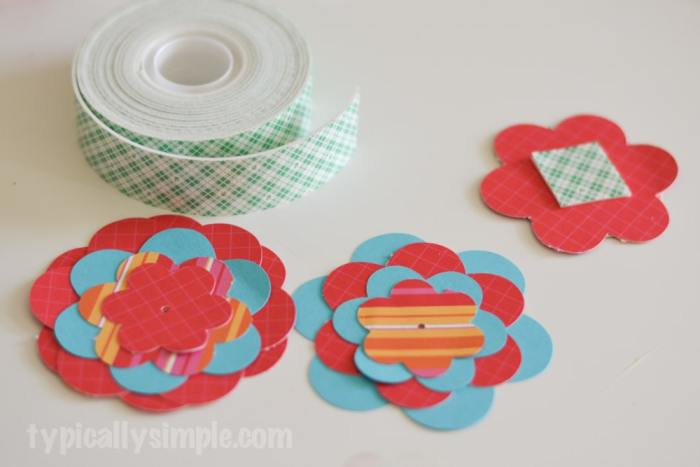 Scrapbook Paper Wreath-7