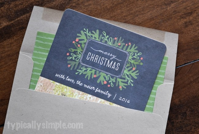 Minted Christmas Card Reveal