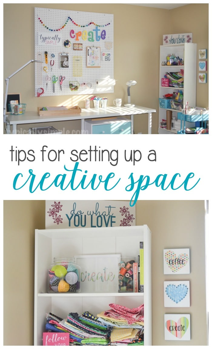 Three tips for setting up a space that allows your creative juices to flow. From great lighting to organization, create a space that you want to work in!
