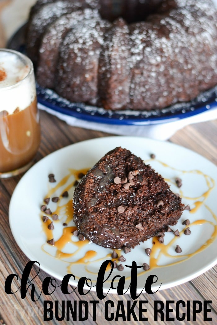 A delicious and super easy to make chocolate bundt cake recipe that pairs perfectly with coffee!