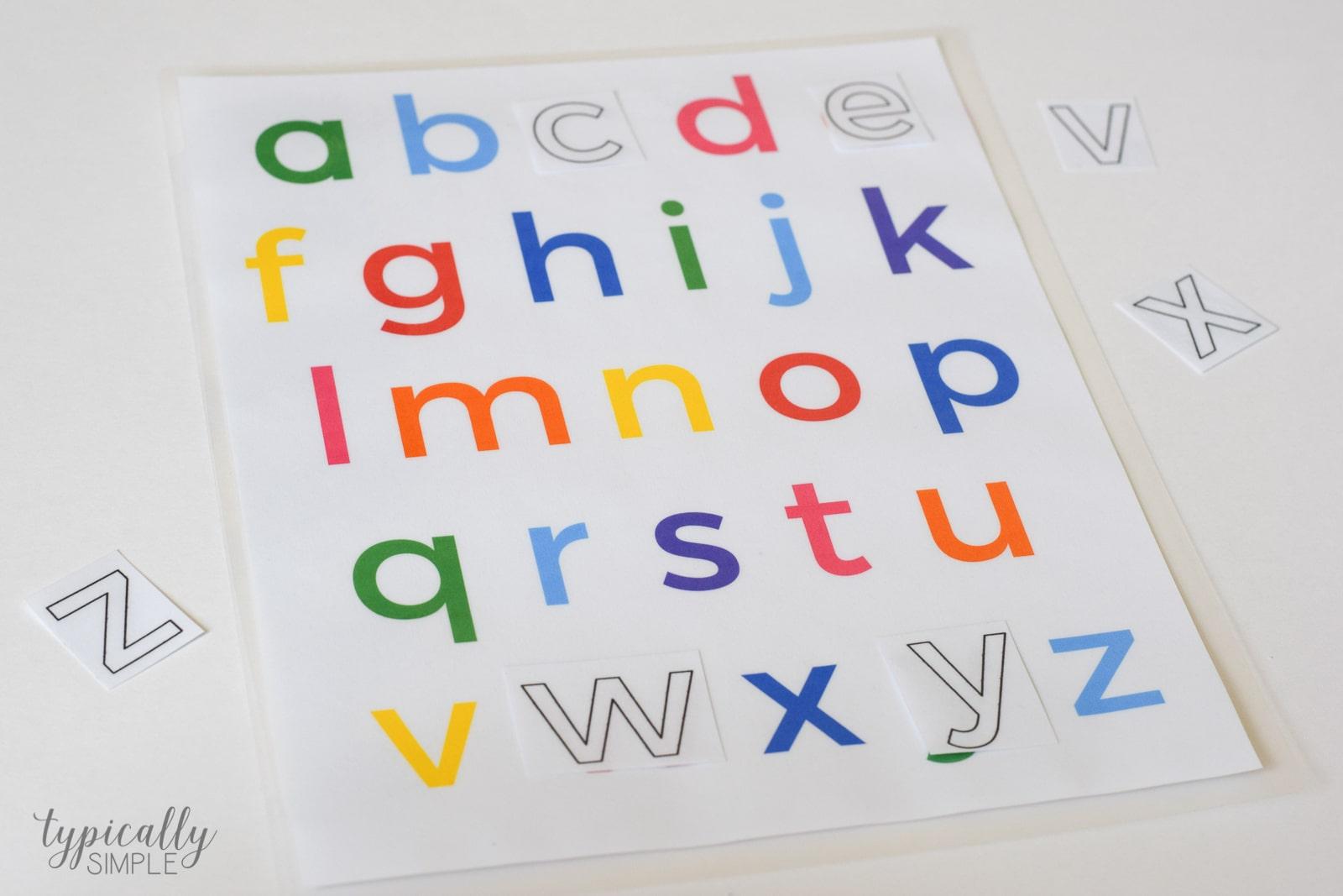 Lower Case Alphabet Letters To Color