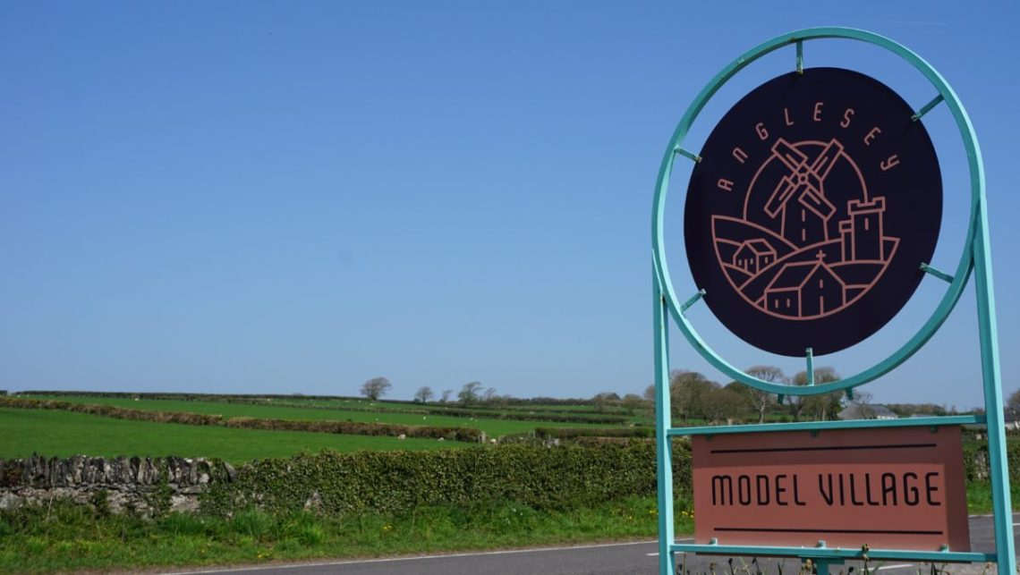 anglesey model village sign