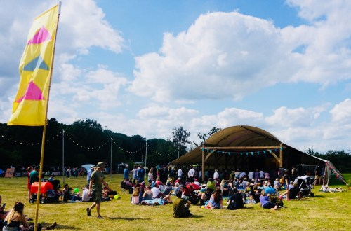 Field Notes Stage at Timber Festival in the National Forest