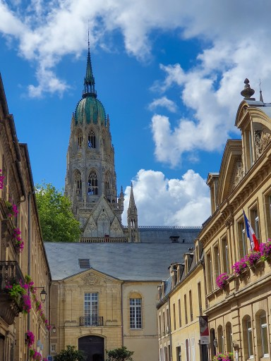 Bayeux Street with Cathedral