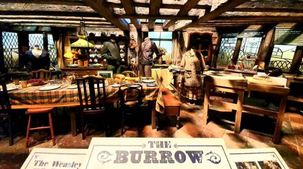 The Burrow at the Warner Brothers Harry Potter Studio Tour